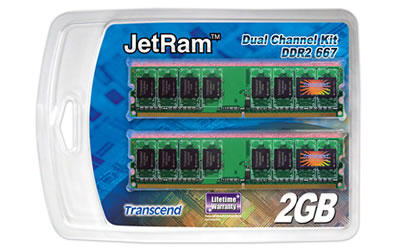 1GBx2 DDR2-667 Dual Channel Kit